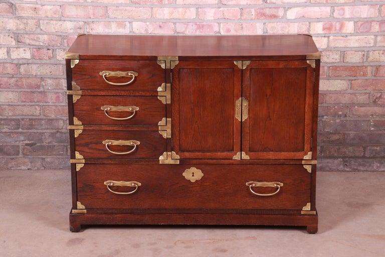 Mid-Century Modern Century Furniture Midcentury Hollywood Regency Chinoiserie Dresser Chest For Sale