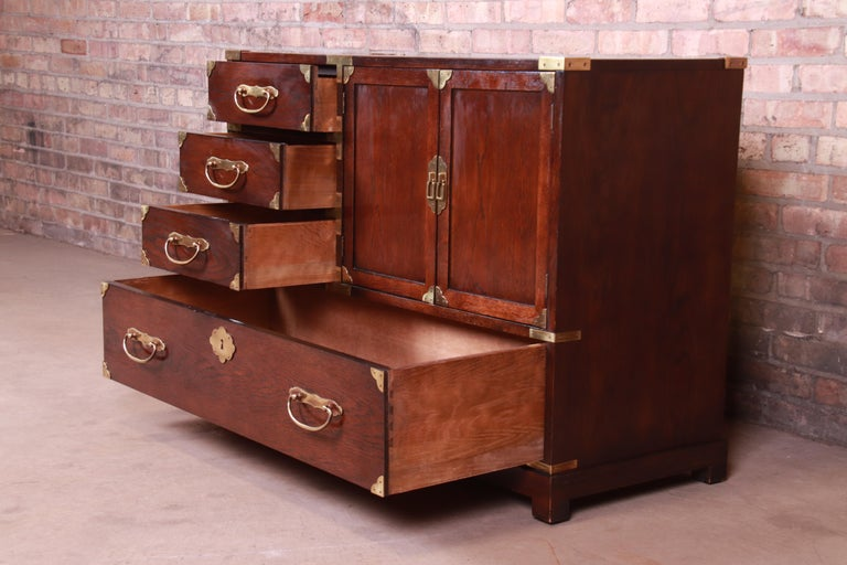 20th Century Century Furniture Midcentury Hollywood Regency Chinoiserie Dresser Chest For Sale