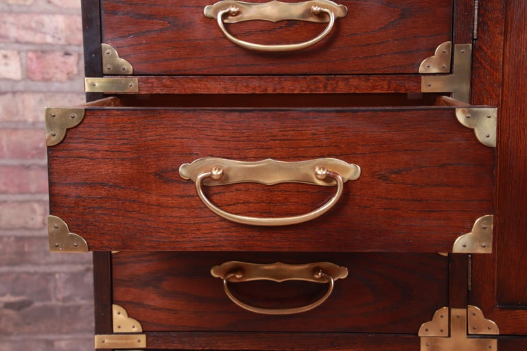 Brass Century Furniture Midcentury Hollywood Regency Chinoiserie Dresser Chest For Sale