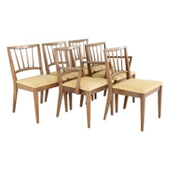 Century Furniture Mid Century Walnut Dining Chairs - Set of 6