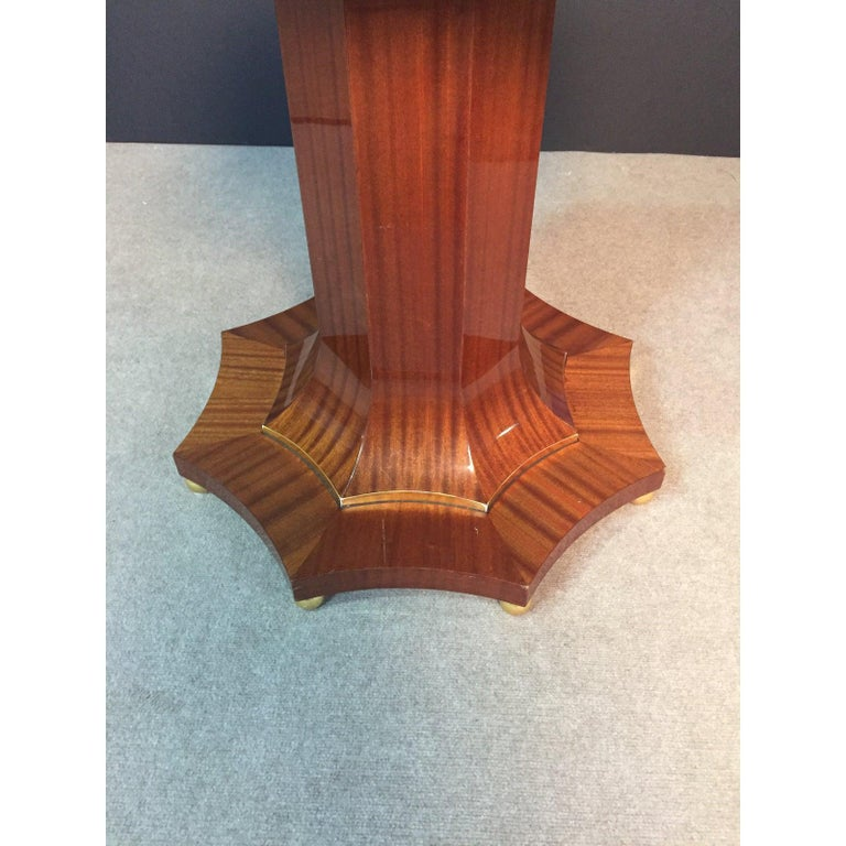 Mahogany Century Regency Style Center Table For Sale