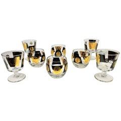 Cera 22-Karat 1960s Midcentury Cocktail Glassware Barware