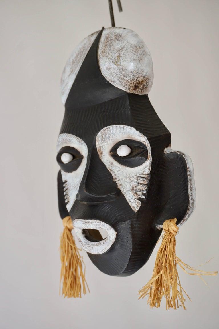 Ceramic mask by Anzengruber, Austria. Measures: Height 24 cm. Width 16 cm. Depth 5 cm.
