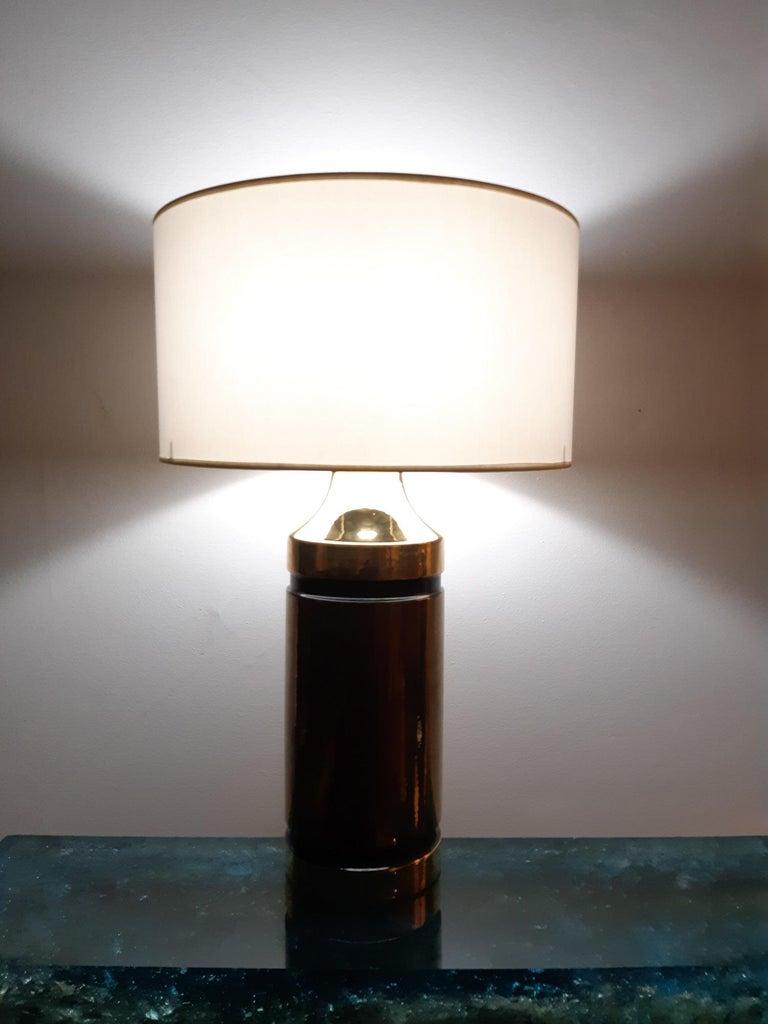 Glazed Ceramic Aldo Londi Table Lamp Bitossi, Italy, 1960 For Sale