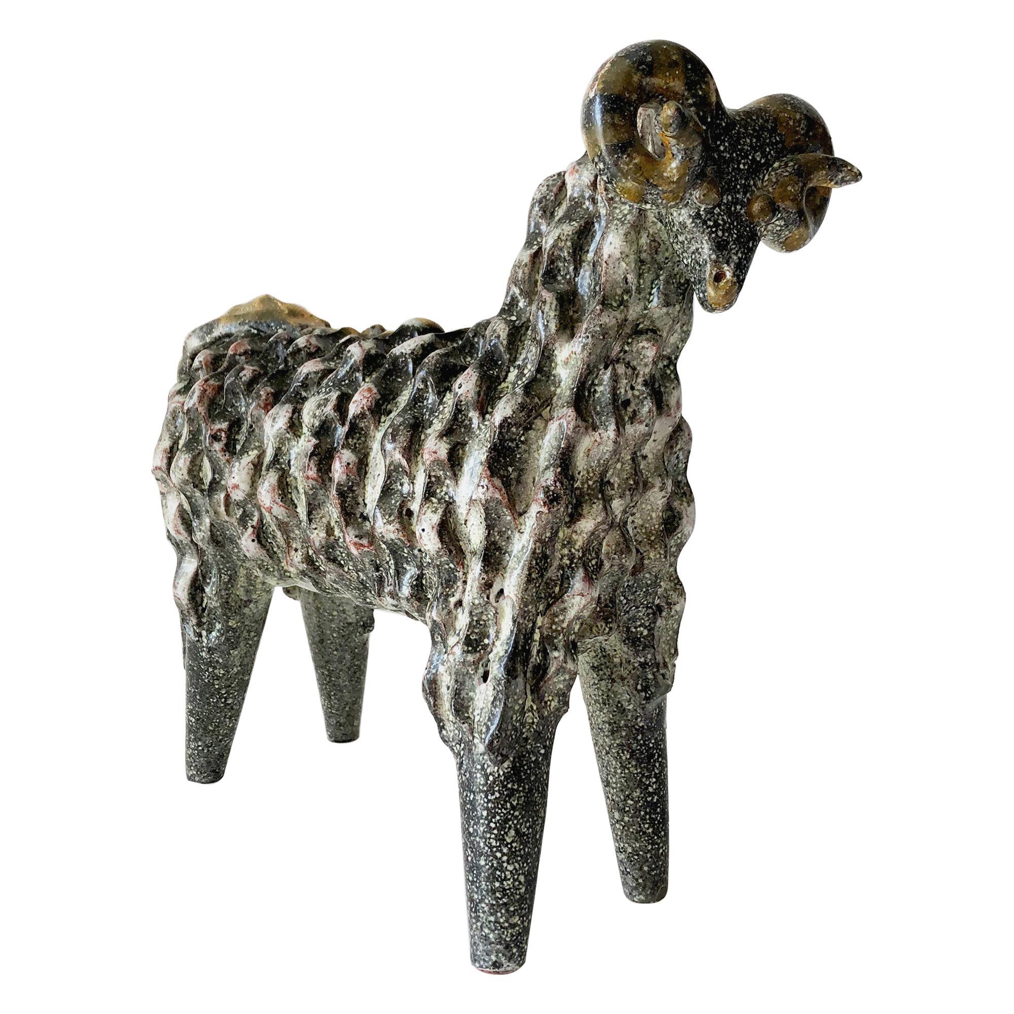 Ceramic Alfraraz Spanish Modernist Aires Ram Sculpture