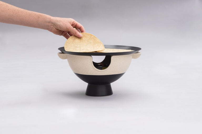 An anafre is a very common utilitarian object in Mexico. The use of anafres is mainly to heat tortillas, a very important element in our gastronomy. We wanted to honor this functional object that is used on a daily basis in Mexico and bring it to