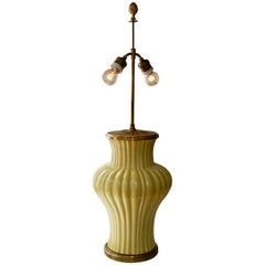 Ceramic and Brass Table Lamp