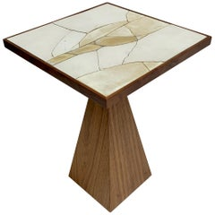 Ceramic and Oak Side Table by John Sheppard for Lawson-Fenning, in Stock