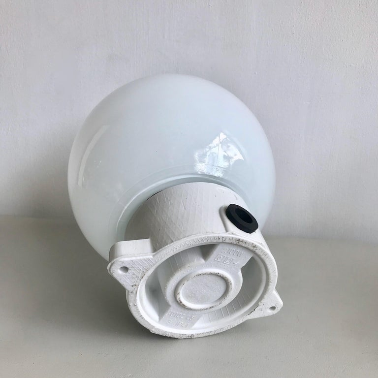 Ceramic and Opaline Lights For Sale 1