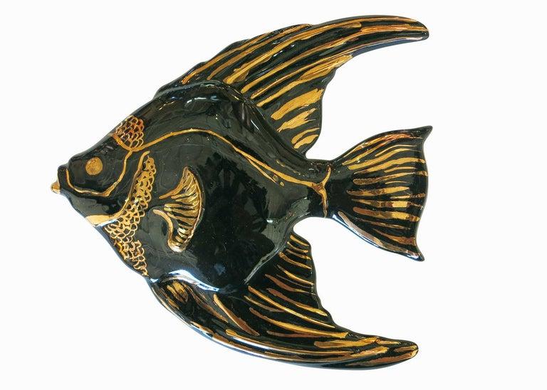 Ceramic Aquatic Angelfish Wall Art Set For Sale 2