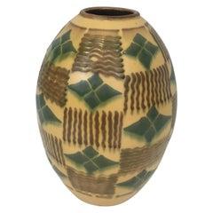 Ceramic Art Deco Vase, circa 1930