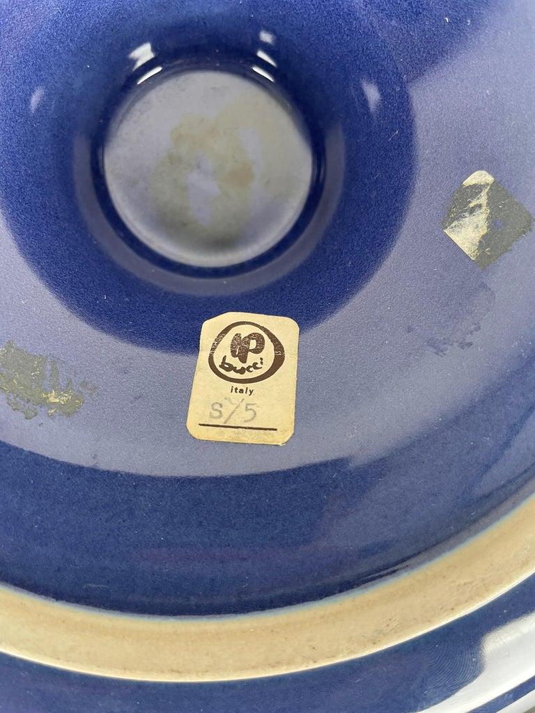 Ceramic Ashtray by Franco Bucci for Laboratorio Pesaro, Italy, 1970s For Sale 9