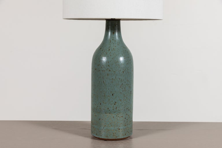Mid-Century Modern Ceramic Bottle Lamp by Victoria Morris For Sale