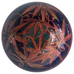 Ceramic Bowl by Bottega Vignoli Hand Painted Glazed Earthenware Contemporary