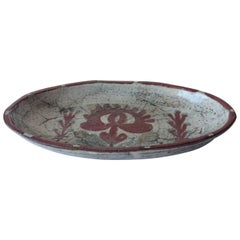 French Midcentury Ceramic Bowl by Gustave Reynaud for Atelier Le Murier
