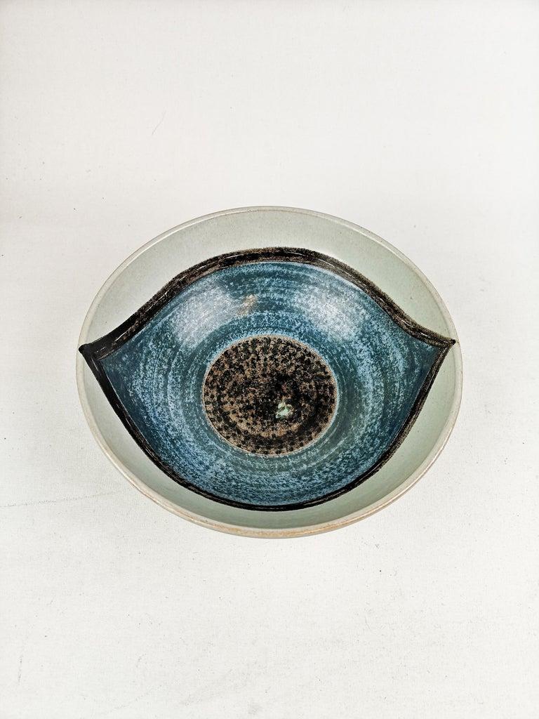 Mid-Century Modern Ceramic Bowl Carl-Harry Stålhane and Aune Laukkanen, Rörstrand Sweden For Sale
