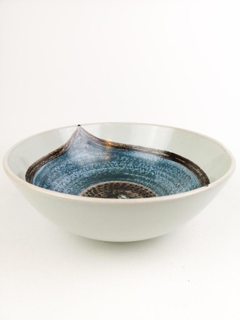 Swedish Ceramic Bowl Carl-Harry Stålhane and Aune Laukkanen, Rörstrand Sweden For Sale