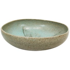 Ceramic Bowl in Turquoise Colors, Number 262, by Eva Stæhr Nielsen for Saxbo