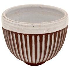 Ceramic bowl N° 18 by Pol Chambost, circa 1950, France