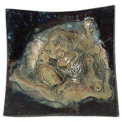 Ceramic Bowl with Nudes 2000, by A.Poizat, France