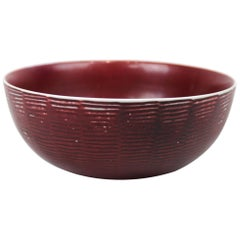 Ceramic Bowl with Ox Blood Glaze by Axel Salto for Royal Copenhagen, 1950s