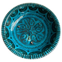 Ceramic Bowl with Water-Weed Fish Motifs , Early 14th Century Islamic Art, Iran