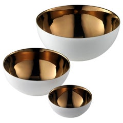 "Ceramic Bowls ""BOWLS"" Handcrafted in White and Bronze by Gabriella B. in Italy"