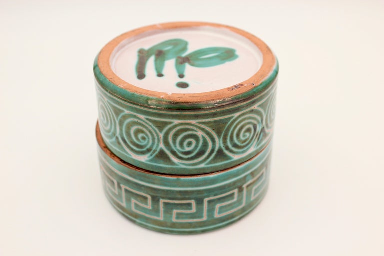 French Ceramic box by Robert Picault, 1950s, France For Sale