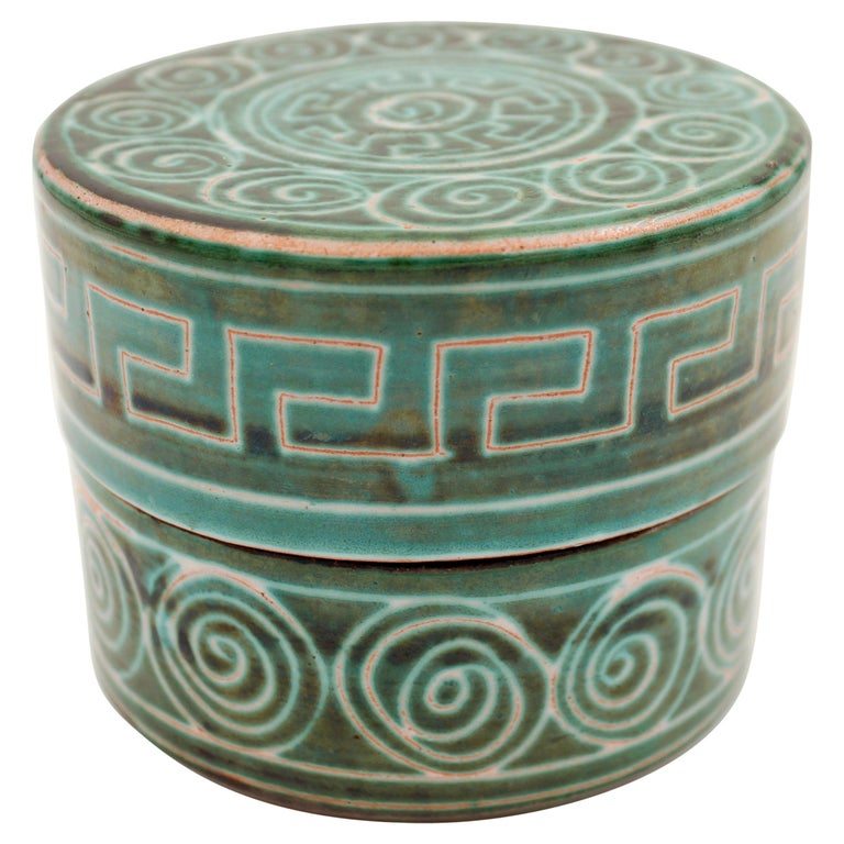 Ceramic box by Robert Picault, 1950s, France For Sale