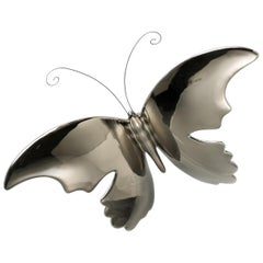 "Ceramic ""BUTTERFLY"" Handcrafted in Platinum by Gabriella B. Made in Italy"