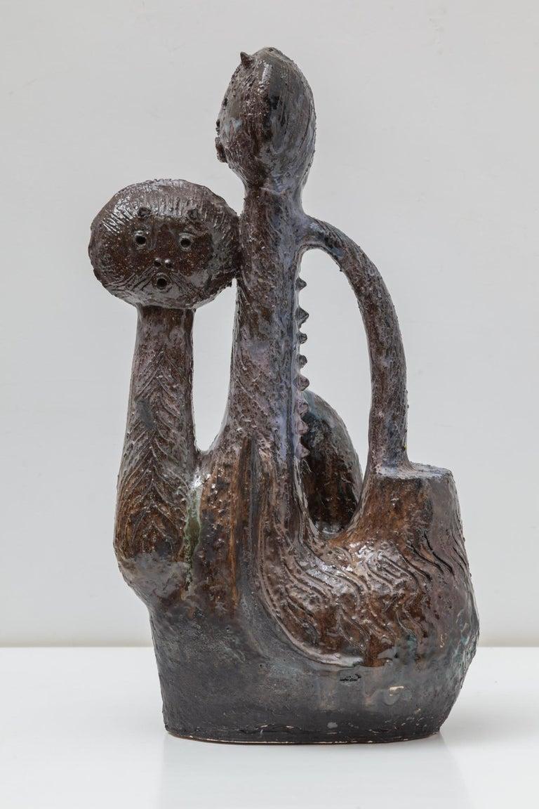 Mid-Century Modern Ceramic Cat Sculpture Designed by Jhan Paulussen, 1960s, Belgium For Sale