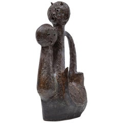 Ceramic Cat Sculpture Designed by Jhan Paulussen, 1960s, Belgium