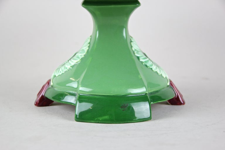 Ceramic Centerpiece by Eichwald, Bohemia circa 1910 In Good Condition For Sale In Lichtenberg, AT