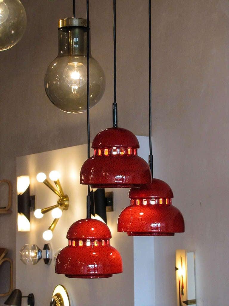 Ceramic Chandelier by Kaiser Leuchten For Sale 2