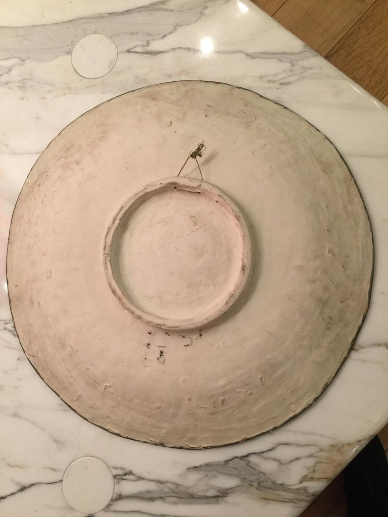Mid-20th Century Ceramic Charger by Salvatore Meli, 1950s For Sale
