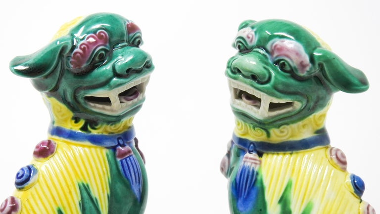 Ceramic Chinese Guardian Foo Dogs For Sale 4