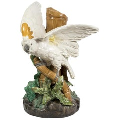 Ceramic Cockatoo, Brownfield and Sons, circa 1880