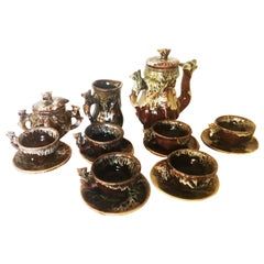 Ceramic Coffee or Tea Set with Vegetable and Animal Shapes