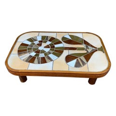 Ceramic Coffee Table by Roger Capron, France, 1960s