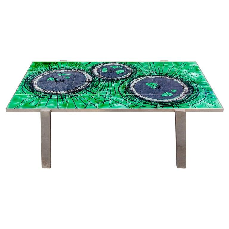 Ceramic Coffee Table Design Juliette Belarti, 1960 For Sale