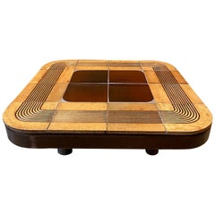 """Ceramic Coffee Table """"Mambo"""", Roger Capron, France, Early 1970s"""
