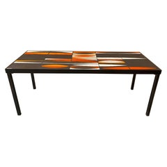 """Ceramic Coffee Table """"Navettes"""" by Roger Capron, France, 1960s"""