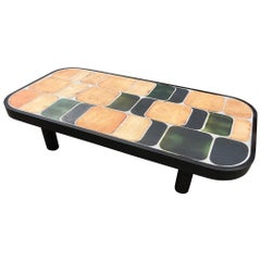 """Ceramic Coffee Table """"Shogun"""" by Roger Capron, France, 1970s"""