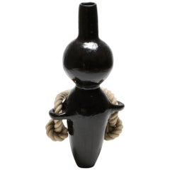 Ceramic Collectible Design Vase with Rope Detail by Harvey Bouterse