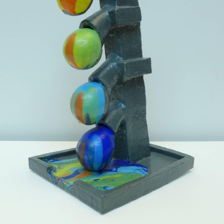 The artistic process of Mark Hosking explores an ongoing engagement in function, materiality, and process. Untitled - Self-glazing color flow is from a series of works experimenting with an automatic glazing process that pumps colored glaze inside