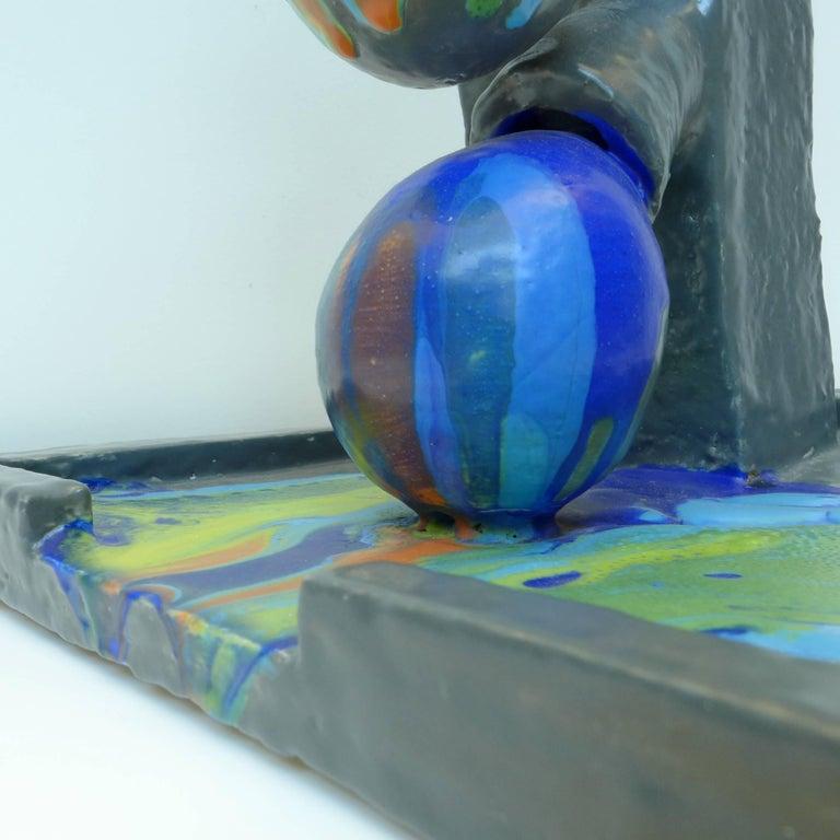 Dutch Ceramic Color Flow Sculpture by Mark Hosking For Sale