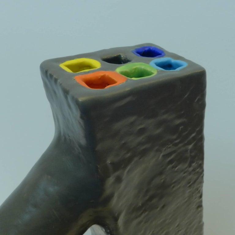 Ceramic Color Flow Sculpture by Mark Hosking For Sale 1