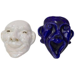 Ceramic Comedy and Tragedy Masks