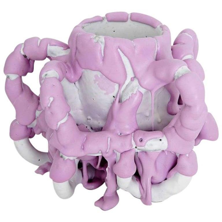 "Ceramic Contemporary Vase Model ""Purple Species n 1607"" by Bente Skjøttgaard For Sale 1"
