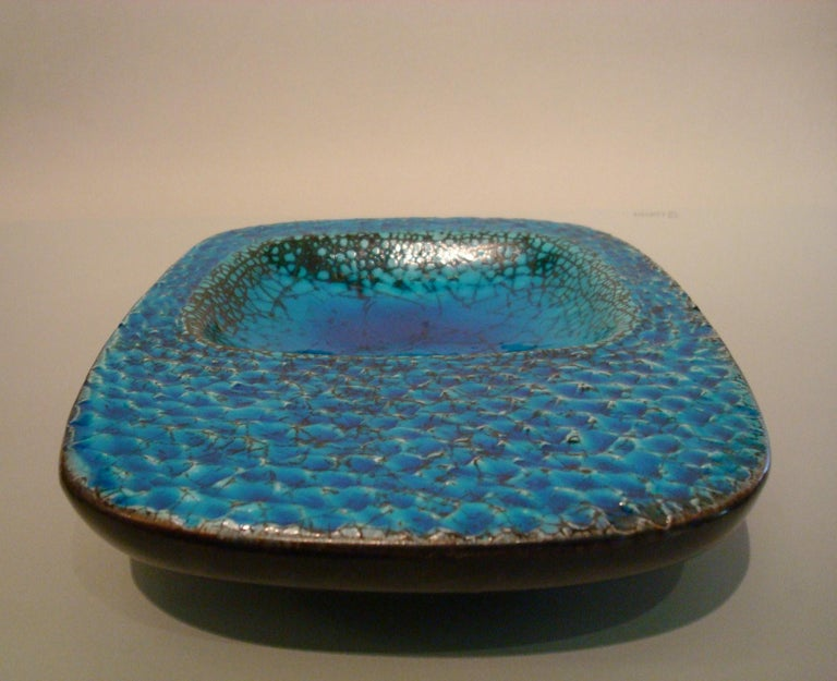 Ceramic Coupe Cendrier or Ashtray in the Style of Georges Jouve, France, 1960s For Sale 4